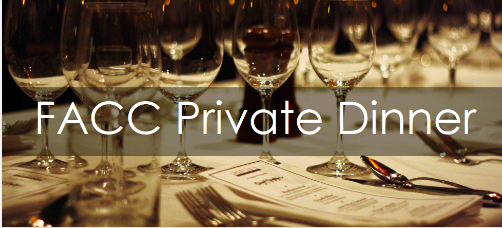 FACC private dinner banner